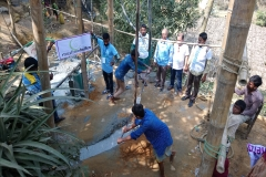 08 A well tube installation, Rohingya Refugee Camps, Cox's Bazar, Bangladesh