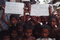27 Meeting Rohingya children during field visit in Myanmar