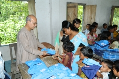 School uniforms distribution in Kolkata, India