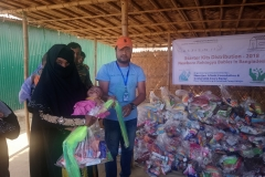Babies kit distribution in a Rohingya refugee camp, Cox Bazar, Bangladesh