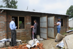 Rebuilding devastated home from the 2015 Nepal earthquake in Kathmandu, Nepal