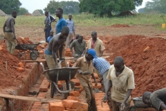 "A construction project of ""Aliba Parents Nursery and Primary school"" started in 2014 in Uganda, Africa,"