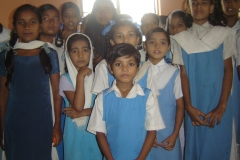 A group of primary student in Tanti Bagh Girls Primary School, Kolkata India