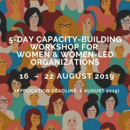 Capacity-building Workshop for Women and Women-led Organizations