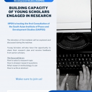 BUILDING CAPACITY OF YOUNG SCHOLARS ENGAGED IN RESEARCH